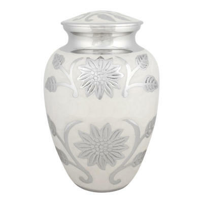 Perfect Memorials Extra Large Pearl Blossom Brass Cremation Urn
