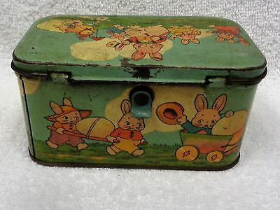 Easter Bunny Metal  Box Without Handle As Seen