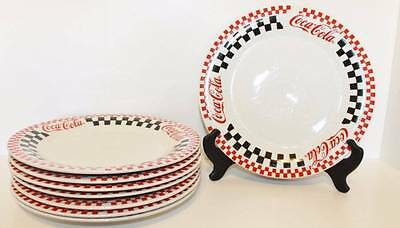 8pc~~GIBSON COCA COLA  PLATES CHECKERED DESIGN ~~1996/1999 (197)