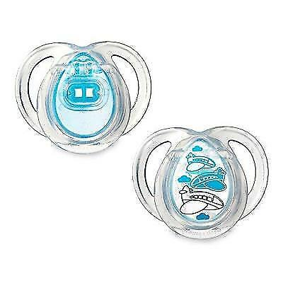 Tommee Tippee Closer To Nature Everyday Pacifier, Blue, 0-6 Months, 2 Count New