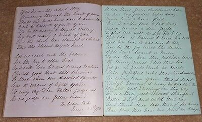 1865 Handwritten Album, Cont' Over 120 Pages Of Entries & Clippings, Kate Clone