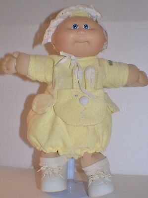 **Cute Vintage Cabbage Patch Doll in Yellow Bunny Outfit**