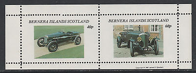 GB Locals - Bernera 3556 - 1981  VINTAGE CARS perf sheetlet of 2 unmounted mint