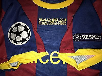 Messi Barcelona Final Champions League 2011 Match Unworn Shirt .