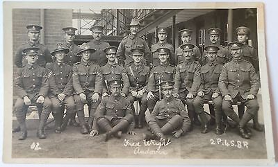 Ww1 Postcard Real Photo - Mixed Regiments- New Zealand - Australian? - Unposted