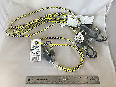 """NEW Lot of 5 Secure-Tite Adjustable Bungee Cords 6"""" to 48"""" Tie Downs Cord 61498"""