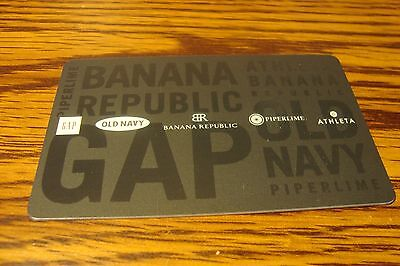 OLD NAVY-GAP-BR Gift CARD NO VALUE-Never Used or Activated Collectable
