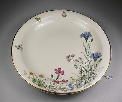 """Franconia Krautheim Meadow Flowers Rimmed Soup Bowl 9"""" - Set Of 2 Bowls - """" F"""""""