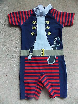 NEXT Boys UV Sun Protection Suit Age 3-4 Years One Piece Pirate Swimming Suit
