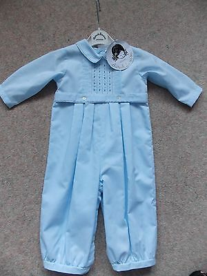 SARAH LOUISE BOYS TRADITIONAL ROMPER SUIT Age 6 Months NEW WITH TAGS Christening
