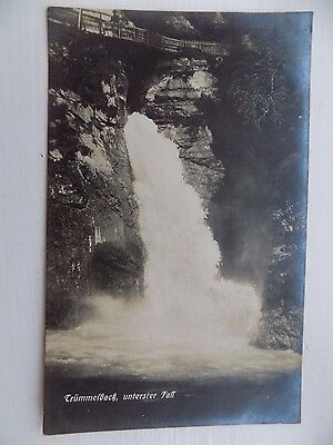 Vintage Old Postcard Trummelbach Falls Switzerland Unposted