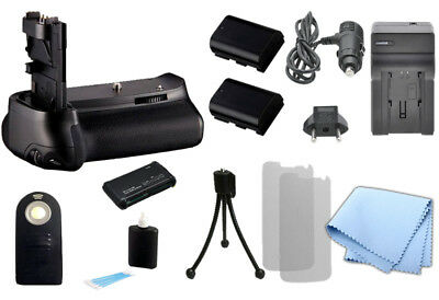 Battery Grip for BG-E11 & Canon 5D Mark III, + 2 LP-E6 Battery, Charger, Remote