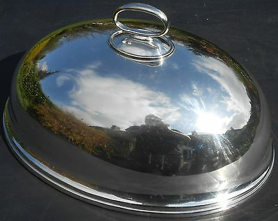 Antique Silver Plated Meat Cover / Dome - Gleaming
