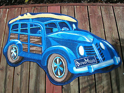 rare large woody wagon  surfing surfboard rug new surfer surf dean miller sweet