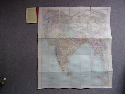 Stanford's Portable Map Of India, Beluchistan, Afghanistan, Etc. C1890