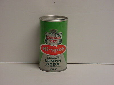 Vintage 1960's Canada Dry Hi-spot Straight Steel Pull Tab Top Opened Soda Can