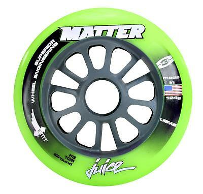 8 STÜCK MATTER WHEELS JUICE ALLROUND EMT HCT  F3105 ROLLEN  F3r 105 mm GREEN TOP