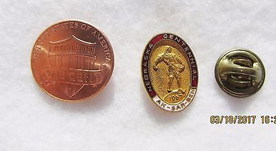 Nebraska Centennial  1967 AK-SAR-BEN USA State Travel Lapel Hat Pin Pinback