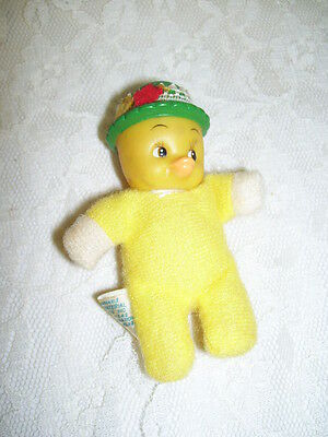 Vintage Beanie Stuffed Easter Chick Hong Kong 3""