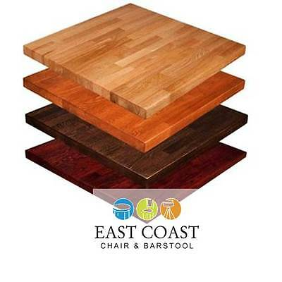 """New 30"""" Square Amish-Made Solid Wood Red Oak Butcher Block Table Top"""