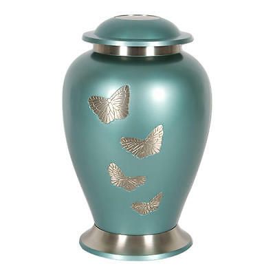 Perfect Memorials Small Butterfly Gathering Brass Cremation Urn