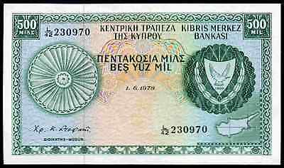 Cyprus. 500 Mils. 1-6-1979. L/42 230970. Extremely Fine.