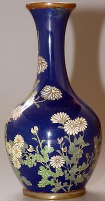 Antique Japanese Cloisonne Small Floral Vase
