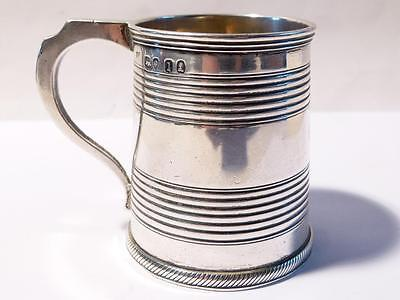 Antique Sterling Silver London 1826 Georgian Christening Tankard Mug Cup