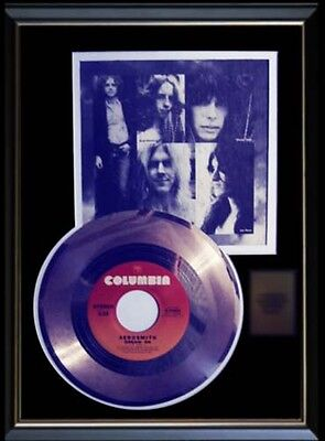 Aerosmith Dream On Rare Gold Record Disc & 45 Rpm Sleeve Rare!!