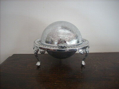 Pivotting Lid Bowl With Silver Appearance Made In England