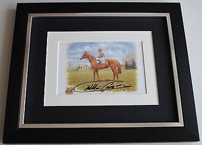 Willie Carson SIGNED 10x8 FRAMED Photo Autograph Display Horse Racing AFTAL COA