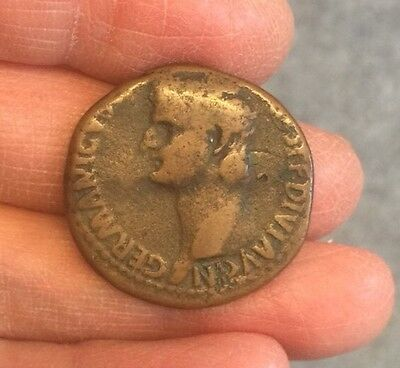 Roman. Germanicus (Father Of Caligula, Died 19 A.d). Copper Coin. (Ae As).