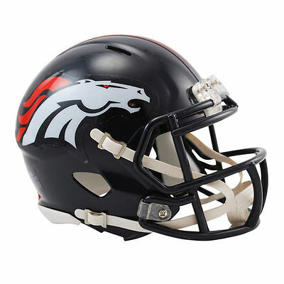 NFL Football Mini Helm Helmet DENVER BRONCOS Speed OVP Riddell Footballhelm