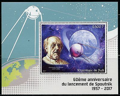 MALI 2017 60th ANNIVERSARY OF THE SPUTNIK LAUNCH SOUVENIR SHEET MINT NH