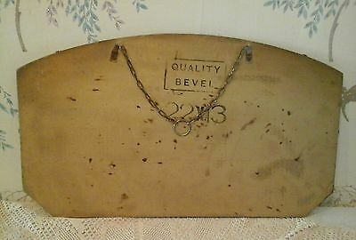 Art deco wall  mirror beveled edged with chain stamped quality bevel on back