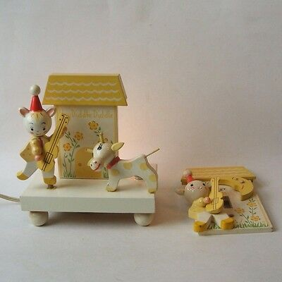 Irmi Hey Diddle Diddle Vintage Night Light Lamp and Single Light Switch Plate