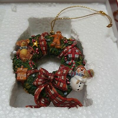 Lang & Wise Ornament by Susan Winget Christmas Wreath 20SW 2001
