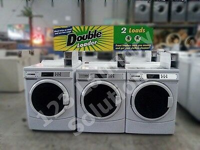 Maytag Front Load Washer Coin Op Double Load 120V MHN30PDBWW0 Used
