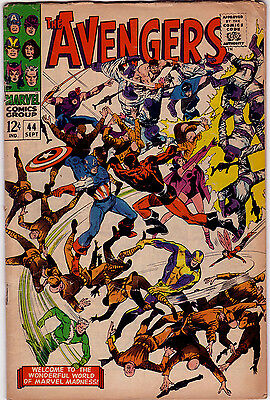 THE AVENGERS Vol1 # 44 - MARVEL 1967 - CENTS - FN