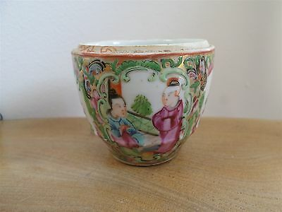 ANTIQUE CHINESE PORCELAIN SMALL FAMILLE ROSE HAND PAINTED POT,BOWL figures,birds