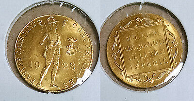 1928 Netherlands 1 Ducat GOLD