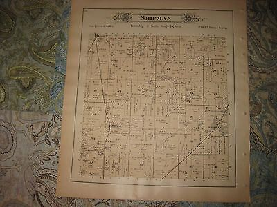Antique 1893 Hillyard Shipman Township Medora Macoupin County Illinois Map Rare