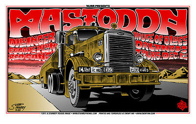 Mastodon - House Of Blues - Orlando - 2011 - Tour Poster - Dillinger - Stainboy