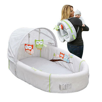 New Lulyboo Baby Lounge To-Go Premium Travel Bassinet - Owl Model:24016062