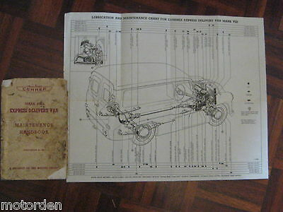 1955 COMMER Mark 8 EXPRESS DELIVERY VAN Hand book 94pages Rootes Group FREE POST
