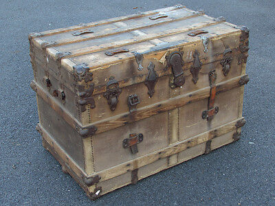 Antique Henry Likly Steamer Trunk - Rough - LOCAL PICKUP ONLY NEWBURGH NY 12550