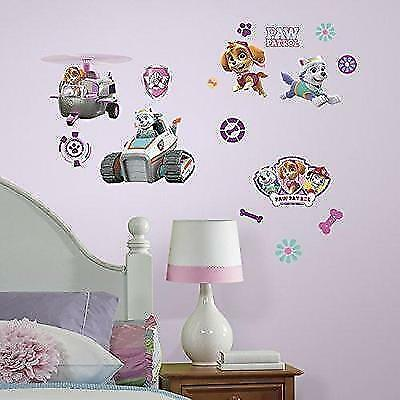 RoomMates RMK3124SCS Paw Patrol Girl Pups Peel and Stick Wall Decals New