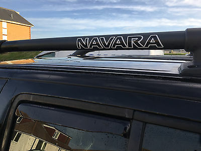 2 x Nissan Navara  roof bar decal stickers  Replacement Twin Vinyl . FREE POST