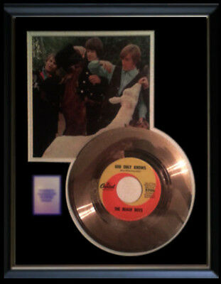 The Beach Boys God Only Knows Gold Record Disc 45 Rpm Original Rare!!