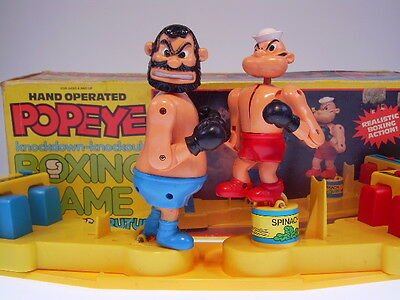 "GSCOM  ""POPEYE BOXING GAME""  HK, 36 cm, PLASTIC, VERY GOOD IN GOOD BOX "" !"